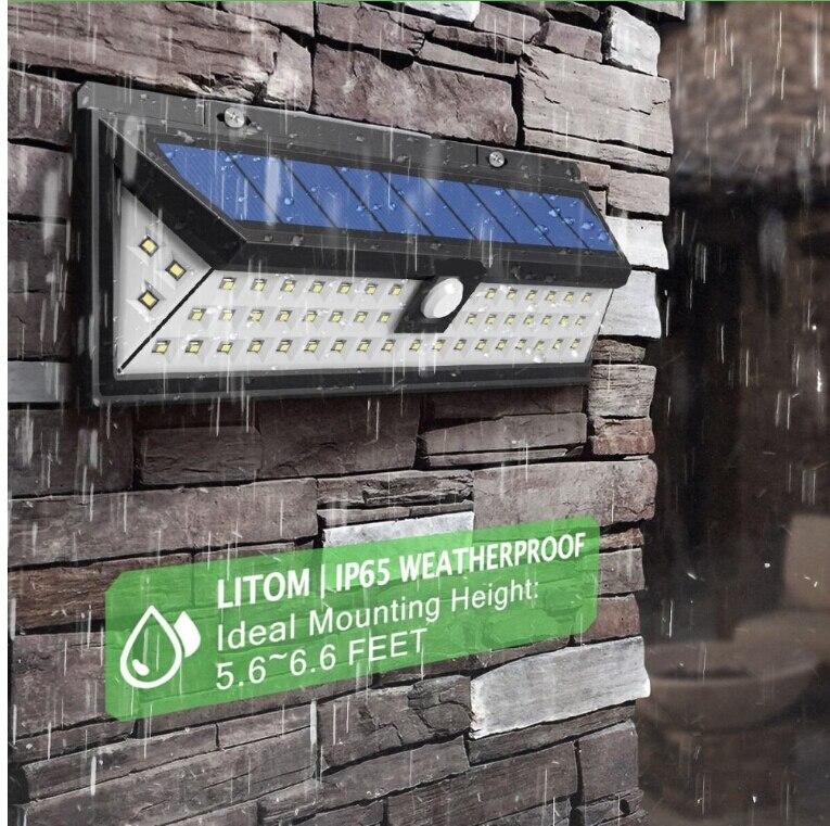 118 leds high bright wide angle solar energy motion sensor led outdoor wall light