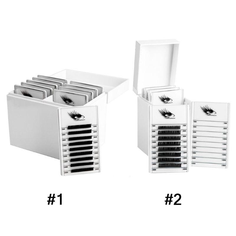 5/10 Layers Eyelash Storage Box Makeup Display Container Eyelashes Holder Case