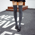 2017 new thickness women high quality needle cotton knee high socks high tube stockings