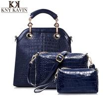 Kny kavin kk mujeres de la moda de marca bolso de la mujer suave compuesto Conjunto de Cuero de LA PU Bolsas de Cuero Bolsa De mensajero Bolso de los Bolsos mujeres