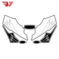 BYSPRINT Motorcycle Front Fairing Sticker Motor Number Board 3D Gel Protector for HONDA CBR 600RR CBR600RR 2007