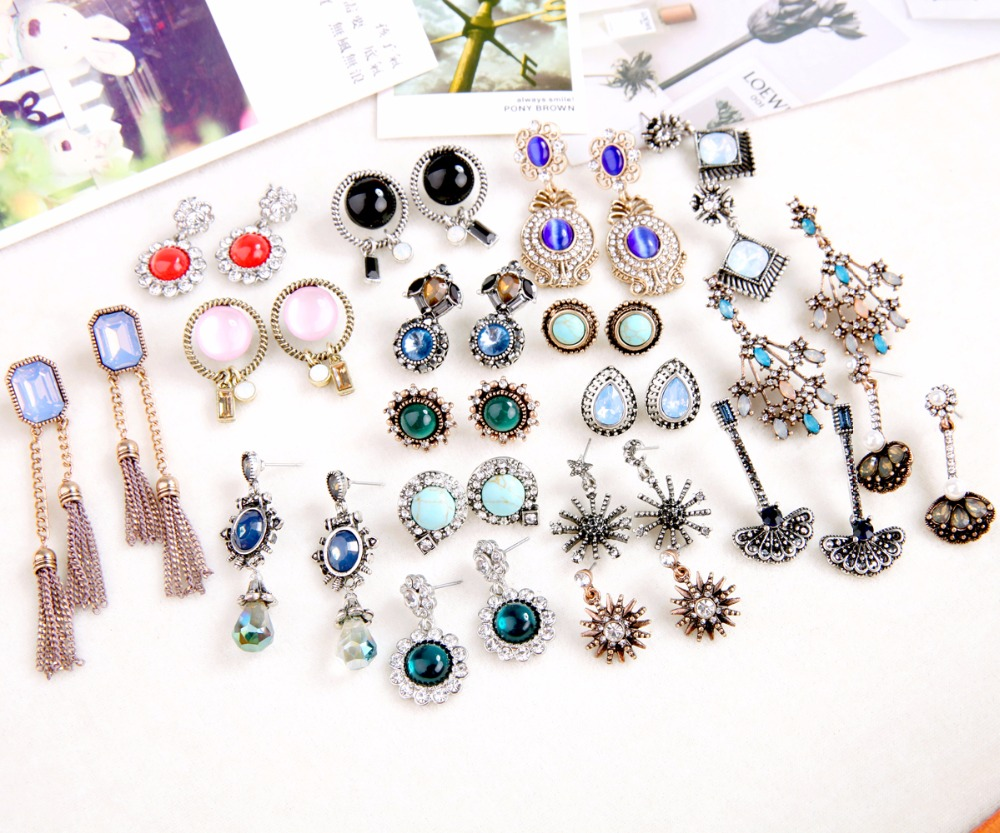Different Styles Vintage Earring Collections aliexpress Geometric Butterfly Star Women Earrings Fashion Jewelry Brincos