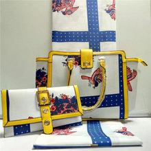 New Arrival Africa Printed Cotton Material font b Handbag b font And Wax Fabric font b