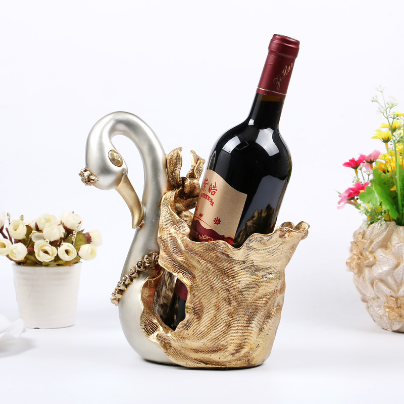 Refinement Continental Swan Wine Rack Personality Fashion HOME Decoration Creative Resin Artware High Quality Collection L972 зимняя шина continental contivikingcontact 6 225 55 r17 101t