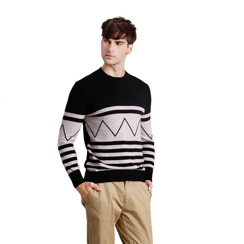 Men's Autumn Winter Round Neck Cashmere Sweater