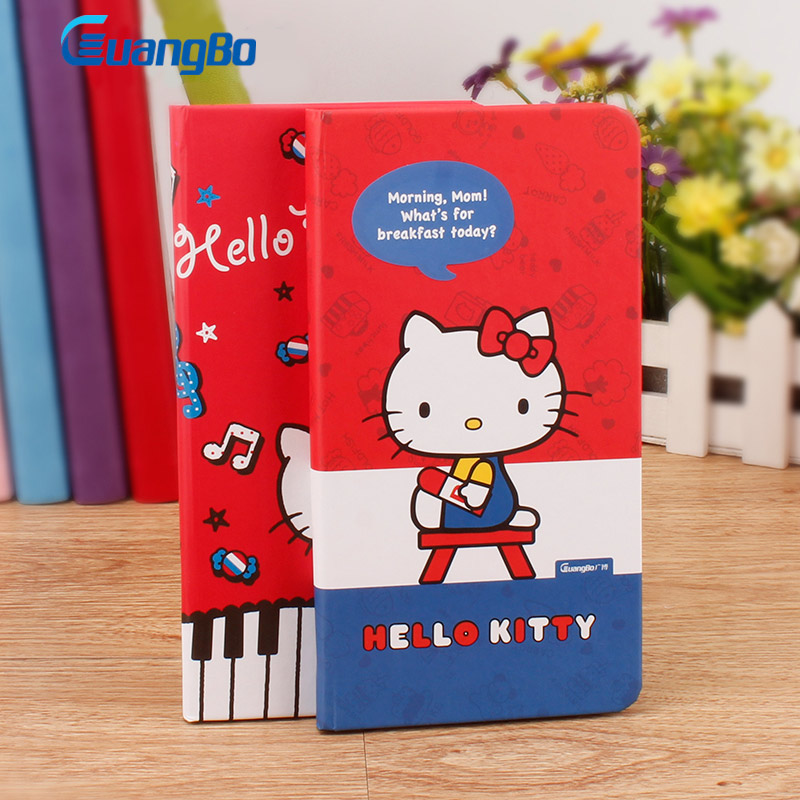 GUANGBO 48 Sheets Diary Notebook Cute Hello Kitty Notes Books Stationery Planner Accessories 48K Agenda Office School Supplies rights of the game notebook gift diary note book agenda planner material escolar caderno office stationery supplies gt105