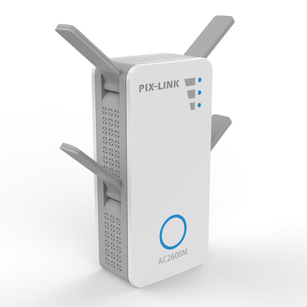 PIXLINK AC10 2600Mbps Wireless Router Dual Band WIfi Range Extender Repeater AP Gigabit Ethernet 4x4 MU-MIMO Beamforming Technology Up To 2.6Gbps
