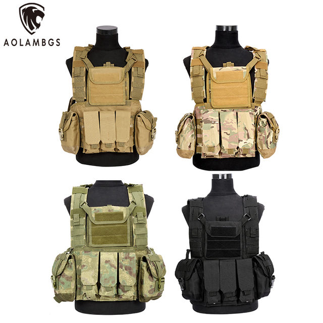 Tactical Vest Multifunctional Protective Tactical Vest US Secret Protection Equipment CS Military Hunting Security Training Vest