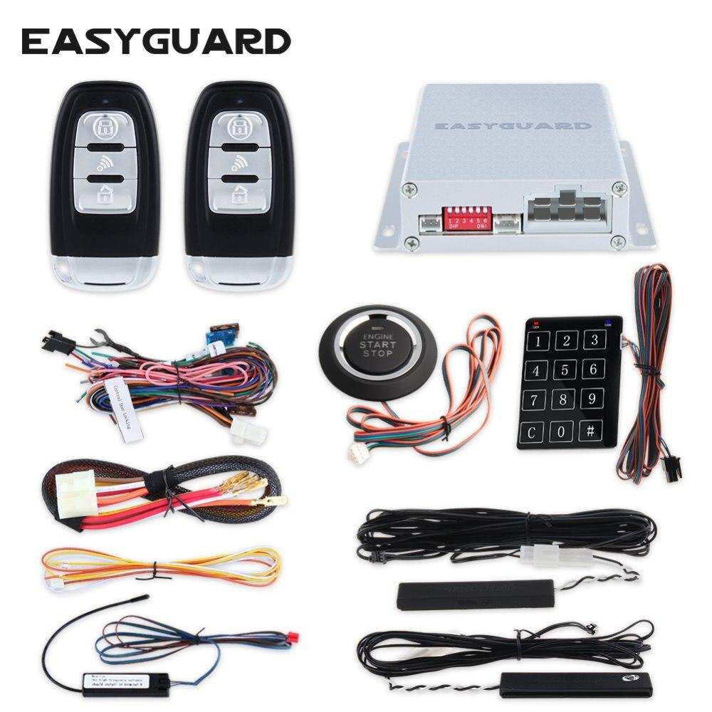 Système d'alarme de voiture universel EASYGUARD PKE démarrage automatique démarrage intelligent du moteur poussoir et mot de passe tactile