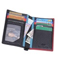 New Men (13 Card Slots) On Sale Simple Spell Color Style Genuine Leather Credit Card Holder Unisex ID Holder Card Wallet  K116