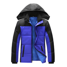 Winter Jacket Hoodies Men Zipper Male Coat Casual Thick Outwear Guy Fashion Stylish Clothing Down Parkas RAA0624
