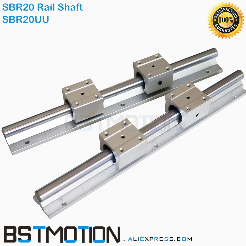 20mm Linear Rail Support SBR20 Shaft Guide 300 400mm 500mm 600 700mm 800 900mm 1000mm 1100