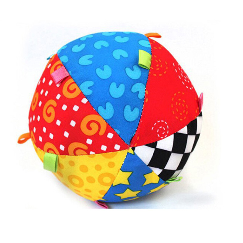 Купить с кэшбэком Baby Toys Children's Ring Bell Ball Baby Toy Ball Rattles Educational Cotton Bell Ball Toys Dolls Toys For Babies Watch Berry
