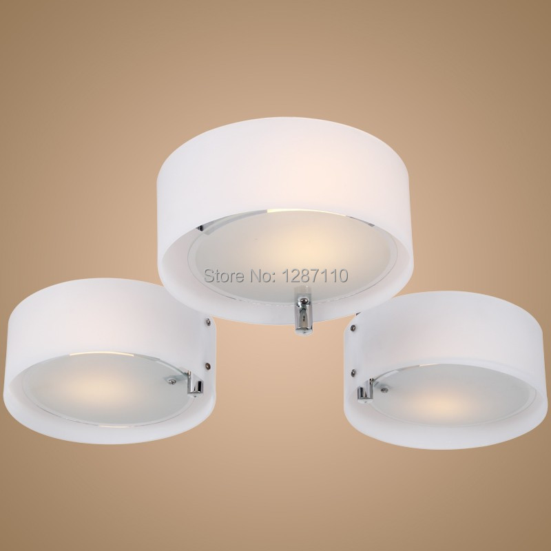 3pcs E27 fluorescent bulb chandelier light Acrylic chandelier ceiling lamp for bedroom living room 220-240V