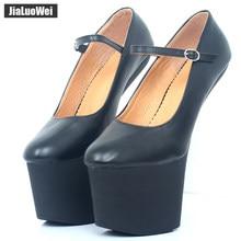 Jialuowei – chaussures à plateforme 9cm, escarpins à talons Goth, Sexy, fétichiste, pour Costume d'halloween, 20cm/8