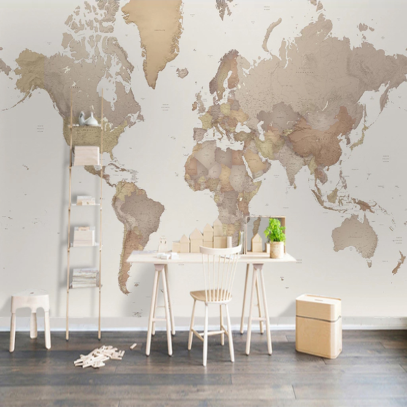 Custom Any Size 3D Wall Murals Wallpaper World Map Wall Painting For Living Room Study Room Bedroom Mural Wall Papers Home Decor