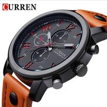 2016 CURREN Marca de Lujo de Relojes Casuales de La Moda Masculina Reloj de Cuarzo Correa de Cuero de Los Hombres Se Divierte el Reloj Hombre Relogio masculino