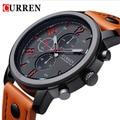 2016 CURREN luxo marca relógios moda Casual Masculino Quartz Watch pulseira de couro Men Sports relógio de pulso homem Relogio Masculino