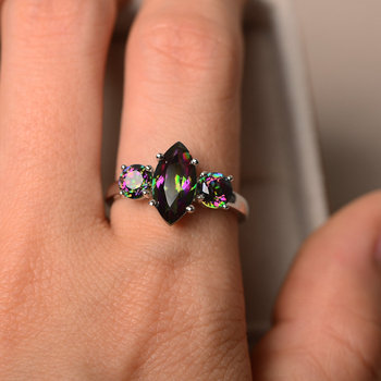 c92f8ae59c03 Anillos de piedras preciosas Hutang amatista Natural Topacio citrino  peridoto granate anillo de Plata de Ley 925 joyería fina para regalo de  mujer