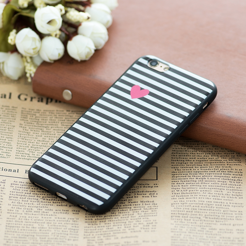 GerTong Painted TPU Phone Case for iPhone 7 Case Cute Cartoon Cat Dog Flowers Pattern Cover Shell for iPhone 7 6 6S Plus 5 5S SE