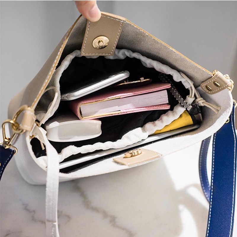 2019 Mode Vrouwen Tas Zomer Emmer Zak Vrouwen PU Lederen Schoudertassen Merk Designer Dames Crossbody Messenger Bags Bakken Sac