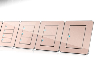 86 Press Button 1 Gang 1 Way LED Random Point Switch Mirror Acrylic Household Stainless Steel Brushed Panel 8