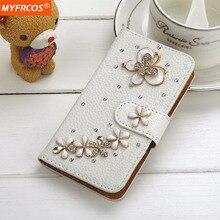Крышка для Iphone 6 6s/6 Plus Bling Diamond Crystal Стенд кошелек Случаи 6 sPlus Белый Флип Кожа Горный Хрусталь Телефон i6 Case