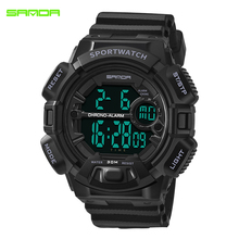 SANDA New Military Sport Watch Men Digital Waterproof Watches LED Electronic Wristwatches Back Light Relogio Masculino