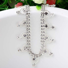 1Yard Diamante Trim Crystal Rhinestone Bridal Applique Cake Ribbon Diamond Trimmings Tassel Sewing Accessories