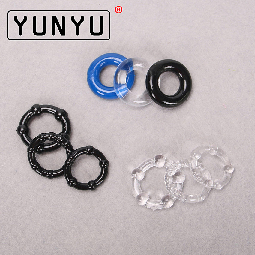 3PCS Silicone Cock Rings Delay Ejaculation Penis Rings Adult Sex Toys Sex Products For Men Couple Game
