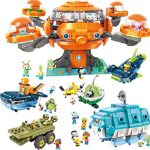 Les Octonauts Octopod Octopus Playset & Barnacles kwazii peso Inkling Duplo ENLIGHTEN Bricks Kids Toy Building Block Octo-Pod