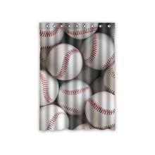 Custom Baseball Sports Vintage Window Curtains Polyester Fabric Bedroom Decor 52 X 63 Inch