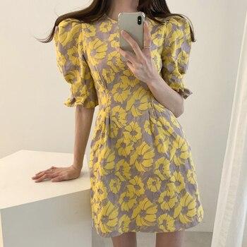 17b64467295b8fb Женское Летнее льняное платье с цветочным принтом, 2019, Vestidos ...