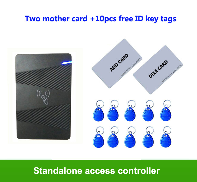 Standalone Access Controller ID Access Control System support 15000 users with 2pcs mother card 10pcs em key fob,min:1pcs proximity rfid 125khz em id card access control keypad standalone access controler 2pcs mother card 10pcs id tags min 5pcs