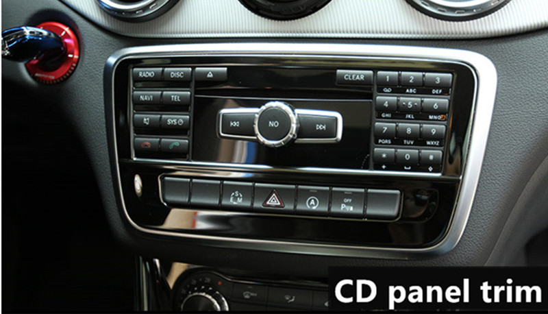 CNORICARC-Black-Stainless-Steel-Car-Central-Control-decoration-For-Mercedes-Benz-CLA-C117-GLA-X156-Water_副本
