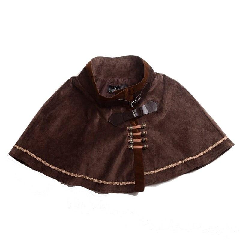 Women Victorian Steampunk Mini Cape Lolita Short Cloak Capelet Vintage Costume