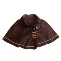 Women Victorian Steampunk Mini Cape Lolita Short Cloak Capelet Vintage Costume