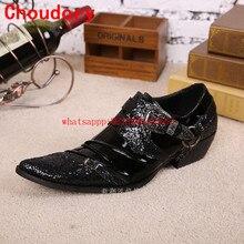 Choudory/мужские кожаные туфли в итальянском стиле; черные туфли-оксфорды для мужчин; блестящая обувь; Свадебная обувь; Мужская официальная обувь