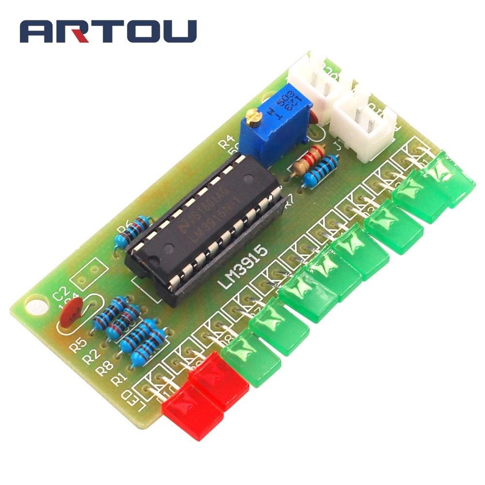 DC 9V-12V Audio Indicator Suite Electronic DIY Kit LM3915 Audio Level Indicator Production Suite