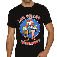 Mens LOS POLLOS HERMANOS Breaking Bad Chicken Brothers Black T Shirt Men S T Shirt