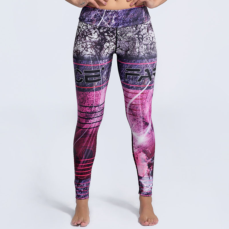 New Design Sexy Europe America Style 3D Digital Printed Leggings Women Sporting Leggins Fitness Workout Trousers Pencil Pants