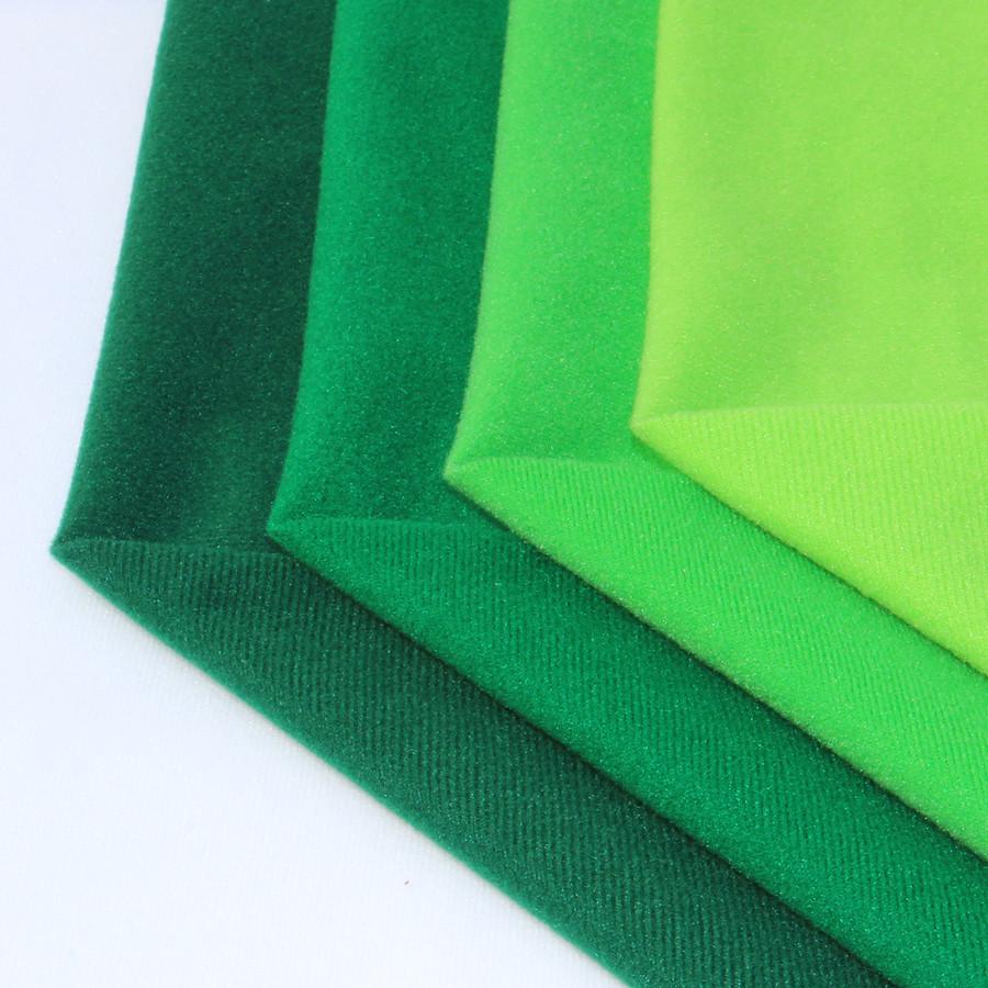 4pcs green fleece fabric polyester loop fabrics can hook for Cheap sewing fabric