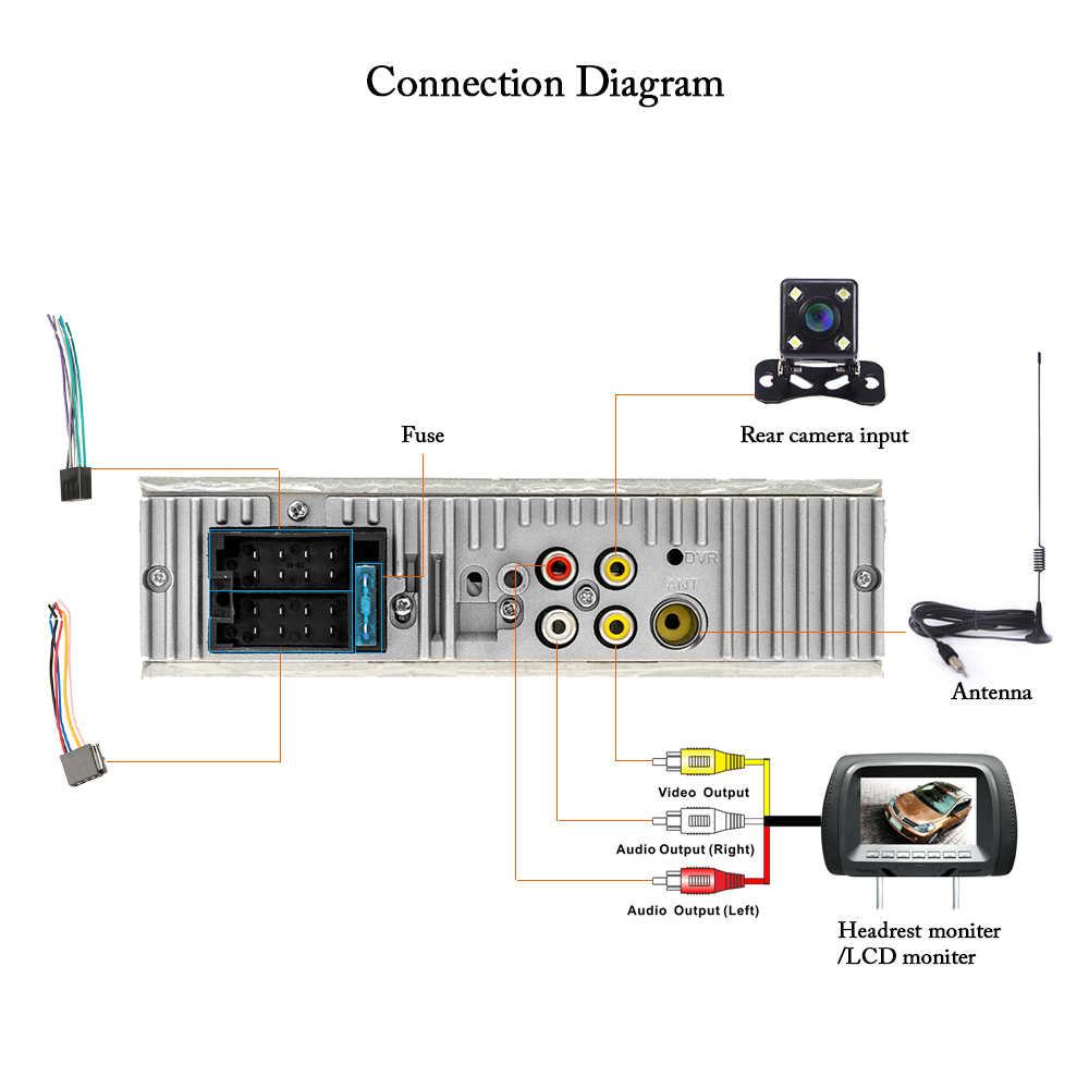 Podofo Autoradio 4019B 1 Din カーラジオオーディオステレオプレーヤー FM Bluetooth リアビューカメラ usb aux ステアリングホイールリモート制御