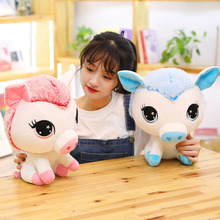 Hot New 35cm Kawaii Pig Turn To Unicorn Stuffed Dolls Cute Soft Animal Plush Toys for Children Sofa Pillows Kids Christmas Gift