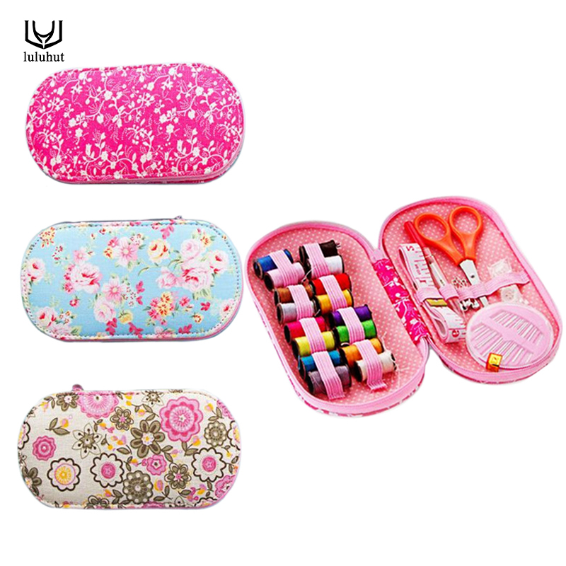 Portable mini travel sewing kits box with color needle threads pin - Arts, Crafts and Sewing - Photo 2