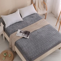 Winter velvet plush bed fitted sheet Single Quilted Thicken Non slip All inclusive Bed cover mattress 1.8x2m protective case