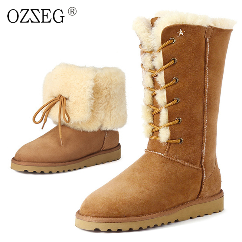 2017 female warm natural real sheepskin australia Shearling fur with half Eskimo snow boots furry suede shoes emu women mini ugs emu australia женская