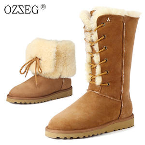 b6068d1b7c3 OZZEG female warm fur snow boots suede shoes women ugs