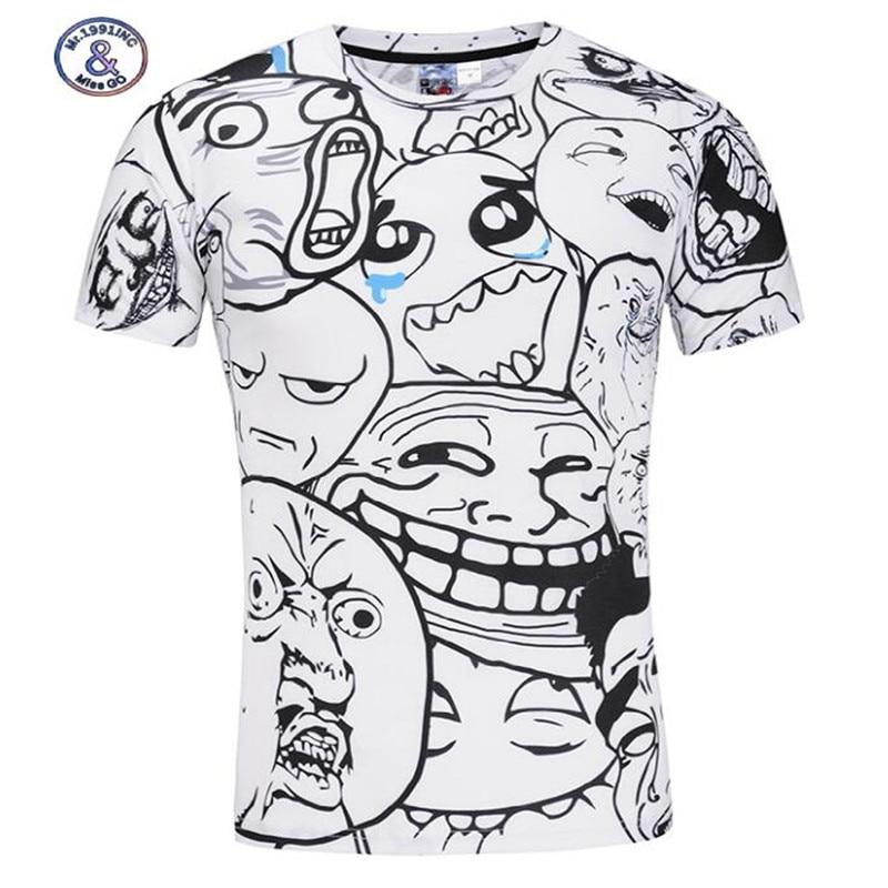 Mr.1991INC&Miss.GO brand cartoon t-shirts big boys/men summer casual t shirt Round Collar Short Sleeve Slim tee shirts tops
