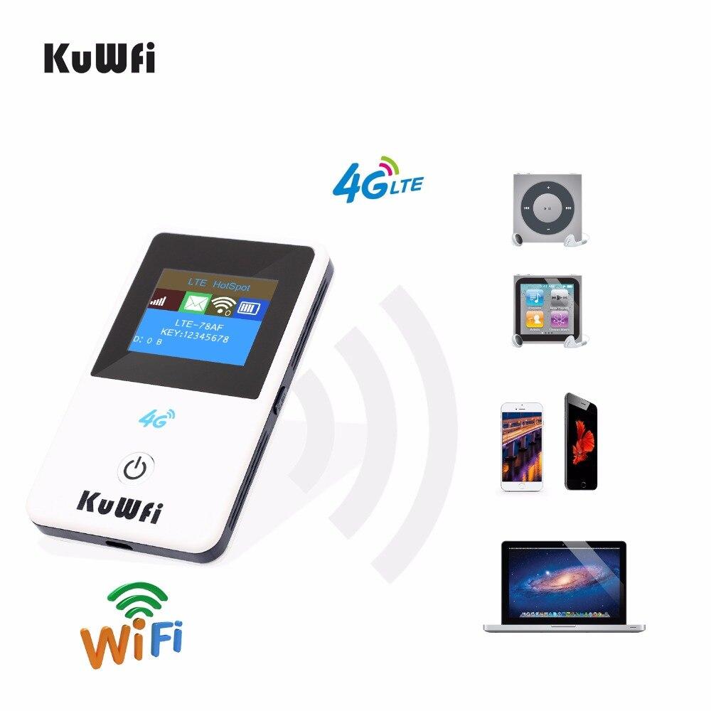 KuWFi 4G Мини Wi Fi роутер 3g/4G беспроводной lte роутер Портативный карманный мобильный компиляция java приложений! маршрутизатор Wi Fi для автомобиля Поддержка B39/B40/B41-in 3G/4G маршрутизаторы from Компьютер и офис